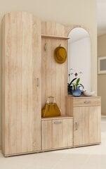 Prieškambario baldų komplektas II, ąžuolo spalvos kaina ir informacija | Prieškambario komplektai | pigu.lt