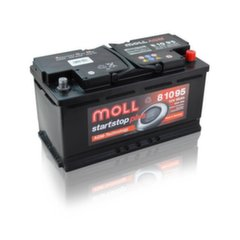 AGM akumuliatorius MOLL 81095 Start-Stop Plus 95Ah 850A