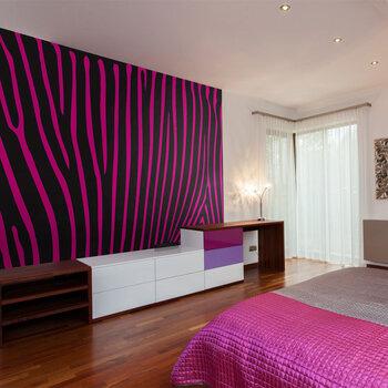 Fototapetas - Zebra pattern (violet) kaina ir informacija | Fototapetai | pigu.lt