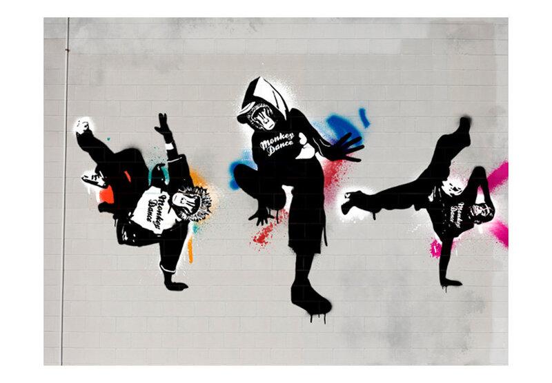 Fototapetas - Monkey dance - street art atsiliepimas
