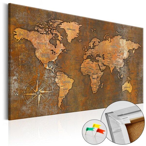 Kamštinis paveikslas - Rusty World [Cork Map] kaina ir informacija | Reprodukcijos, paveikslai | pigu.lt
