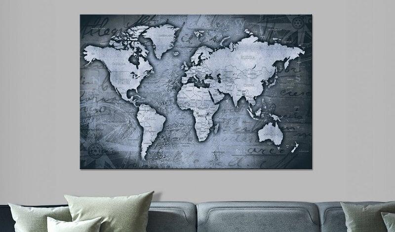 Kamštinis paveikslas - Sapphire World [Cork Map] kaina