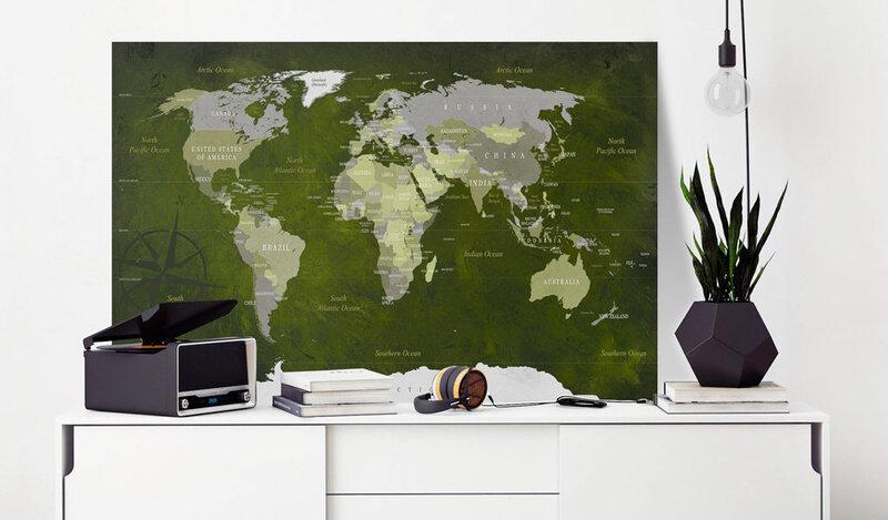 Kamštinis paveikslas - Malachite World [Cork Map] kaina
