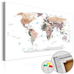 Kamštinis paveikslas - Where Today? [Cork Map] kaina ir informacija | Reprodukcijos, paveikslai | pigu.lt