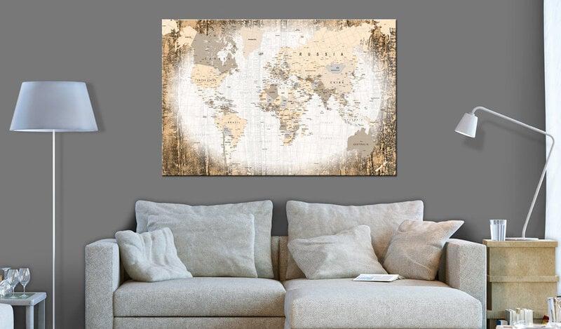 Kamštinis paveikslas - Enclave of the World [Cork Map] kaina