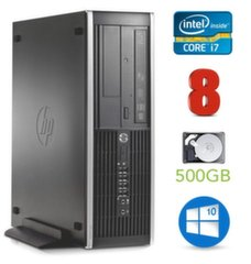 HP 8100 Elite SFF i7-860 8GB 500GB DVD WIN10Pro