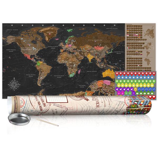Nutrinamas žemėlapis - Brown Map - Poster (English Edition) kaina ir informacija | Reprodukcijos, paveikslai | pigu.lt