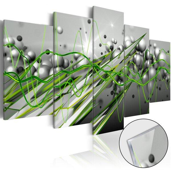 Akrilo stiklo paveikslas - Green Rhythm [Glass] kaina ir informacija | Reprodukcijos, paveikslai | pigu.lt