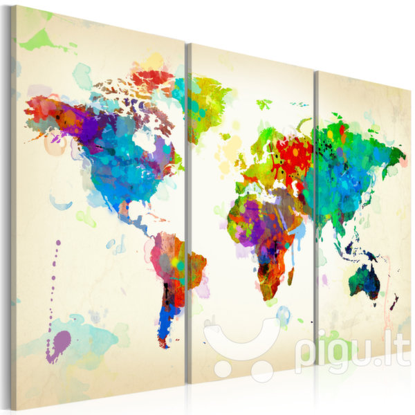 Paveikslas - All colors of the World - triptych