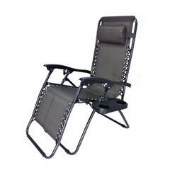 Sulankstoma kėdė-gultas, juoda