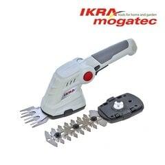 Akumuliatorinės žolės ir gyvatvorių žirklės 3,6V Ikra Mogatec IGBS 3.6 USB kaina ir informacija | Gyvatvorių, žolės žirklės | pigu.lt