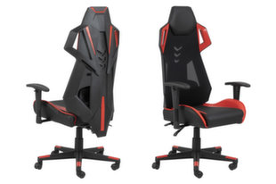 Žaidimų kėdė Kevin, juoda/raudona