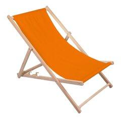 Paplūdimio gultas, oranžinis/rudas kaina ir informacija | Gultai | pigu.lt