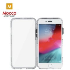 Mocco Double Side Aluminum Case 360 With Tempered Glass For Apple iPhone 6 Plus / 6S Plus Transparent - Silver kaina ir informacija | Telefono dėklai | pigu.lt