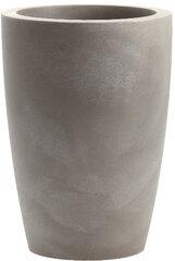 Vazonas, pilkas NICOLI Vivaio Basso Tylus Matt, 40 x 30 cm - 21 L