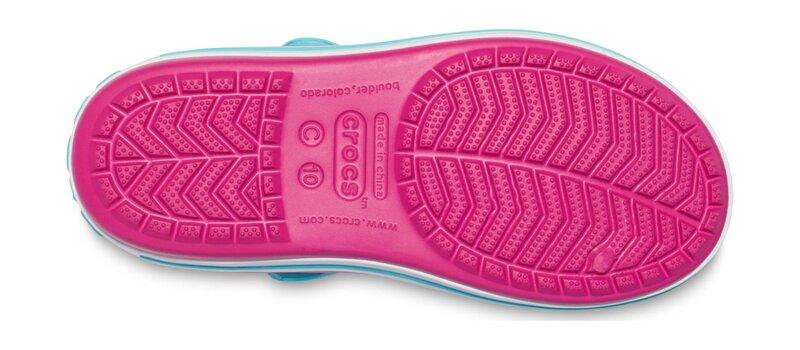 Crocs™ basutės Crocband Sandal, Candy Pink/Pool