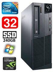 Lenovo ThinkCentre M82 SFF i3-3220 32GB 240SSD GT710 2GB DVD WIN7Pro kaina ir informacija | Stacionarūs kompiuteriai | pigu.lt