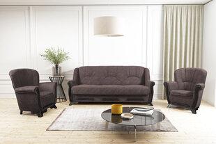 Minkštų baldų komplektas 3+1+1 Eryk, rudas kaina ir informacija | Sofos, foteliai ir minkšti kampai | pigu.lt