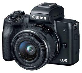 Canon EOS M50 15-45 IS STM Black kaina ir informacija | Skaitmeniniai fotoaparatai | pigu.lt