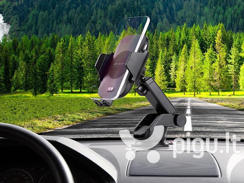 Tracer Wireless Charger + Automatic Car Mount 10W pigiau