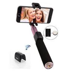 Товар с повреждённой упаковкой. Remax RP-P4 Премиум Bluetooth Selfie Stick 90cm алюминевое крепление с встоенной Shutter кнопкой и сумочкой Розовый