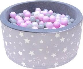 Baseinas su kamuoliukais Welox A5, pilkas kaina ir informacija | Žaislai kūdikiams | pigu.lt