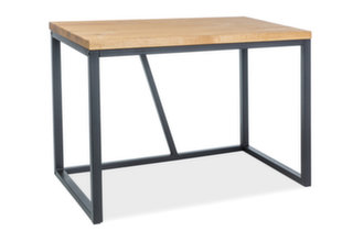 Rašomasis stalas Signal Meble Silvio, natūrali faneruotė, juodos/ąžuolo spalvos kaina ir informacija | Kompiuteriniai, rašomieji stalai | pigu.lt