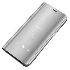 Hurtel Clear View Case, skirtas Samsung Galaxy A70, sidabrinės spalvos kaina ir informacija | Telefono dėklai | pigu.lt