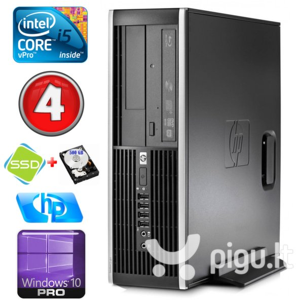 HP 8100 Elite SFF i5-650 4GB 120SSD+500GB DVD WIN10Pro