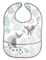 Моющийся слюнявчик с карманом Canpol Babies Jungle, серого цвета, 9/238