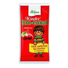 Maisto papildas Em-eukal® Kinder LAUKINĖS VYŠNIOS pastilės su 5 vitaminais kaina ir informacija | Vitaminai ir maisto papildai gerai savijautai | pigu.lt
