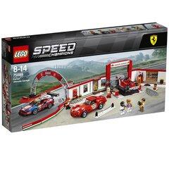 Товар с повреждённой упаковкой. 75889 Конструктор LEGO® Speed Champions Ferrari гараж