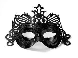 Маска вечеринок с орнаментом, чёрная цена и информация | Карнавальные костюмы | pigu.lt