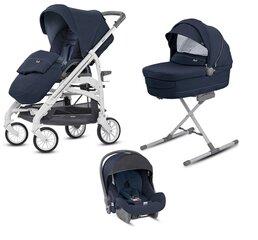 Prekė su pažeista pakuote. Universalus vežimėlis Inglesina Trilogy System Quattro 3in1, imperial blue