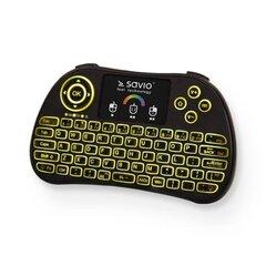 Savio KW-03 Belaidė mini klaviatūra, Juoda (Su RGB apšvietimu) kaina ir informacija | Savio KW-03 Belaidė mini klaviatūra, Juoda (Su RGB apšvietimu) | pigu.lt