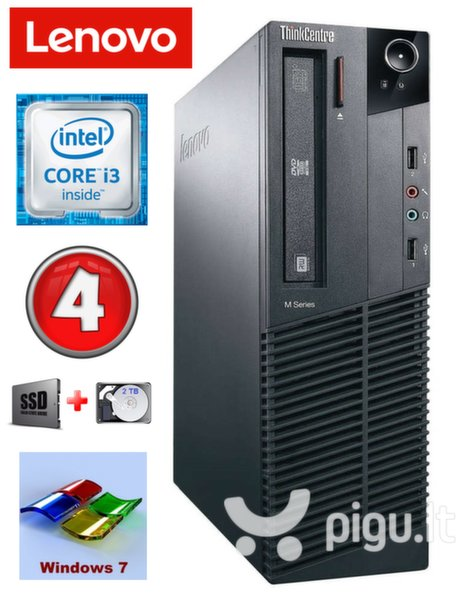 Lenovo ThinkCentre M82 SFF i3-2120 4GB 120SSD+2TB WIN7Pro