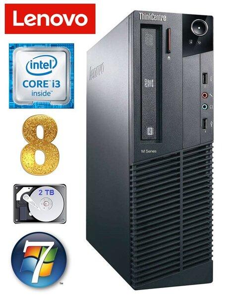 Lenovo ThinkCentre M82 SFF i3-2120 8GB 2TB WIN7Pro