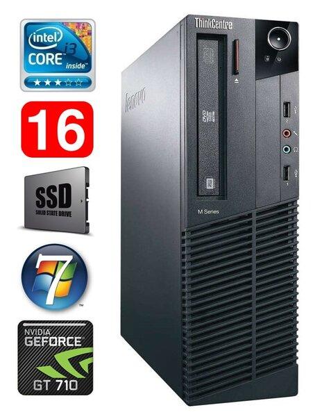 Lenovo ThinkCentre M82 SFF i3-2120 16GB 120SSD GT710 2GB WIN7Pro