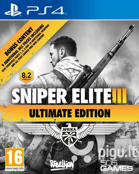 Sniper Elite 3 Ultimate Edition PS4 kaina