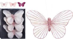 Kalėdinė dekoracija Butterfly 3 vnt kaina ir informacija   Kalėdinės dekoracijos   pigu.lt