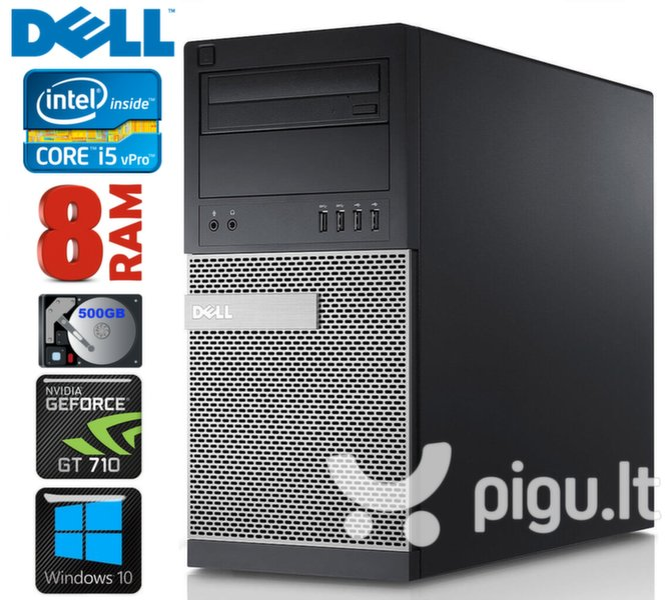 DELL 790 MT i5-2400 8GB 500GB GT710 2GB DVD WIN10 kaina ir informacija | Stacionarūs kompiuteriai | pigu.lt