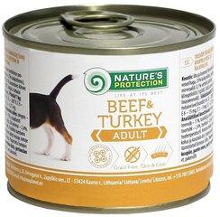 Nature's Protection Beef&Turkey Adult konservai šunims, 400g kaina ir informacija | Nature's Protection Beef&Turkey Adult konservai šunims, 400g | pigu.lt