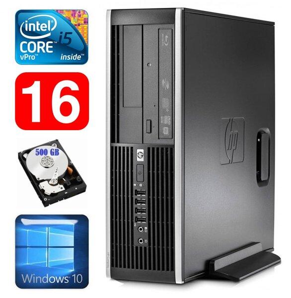 HP 8100 Elite SFF i5-650 16GB 500GB DVD WIN10 kaina ir informacija | Stacionarūs kompiuteriai | pigu.lt
