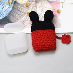 Ausinių dėklas Hurtel silicon case box with a wool cap for AirPods 1/2 Mouse kaina ir informacija | Ausinių dėklas Hurtel silicon case box with a wool cap for AirPods 1/2 Mouse | pigu.lt