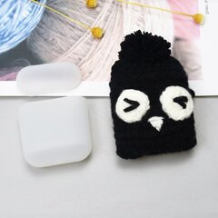 Ausinių dėklas Hurtel silicon case box with a wool cap for AirPods 1/2 Owl kaina ir informacija | Ausinių dėklas Hurtel silicon case box with a wool cap for AirPods 1/2 Owl | pigu.lt