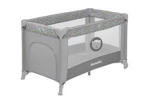 Кроватка-манеж для путешествий Lionelo Adriaa, grey scandi цена и информация | Кроватка-манеж для путешествий Lionelo Adriaa, grey scandi | pigu.lt