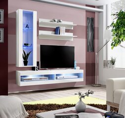 Svetainės baldų komplektas ASM Fly S5, baltas kaina ir informacija | Sekcijos | pigu.lt