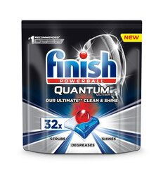 FINISH Quantum Ultimate tabletės indaplovėms, 32 vnt. kaina ir informacija | Indų plovimo priemonės | pigu.lt