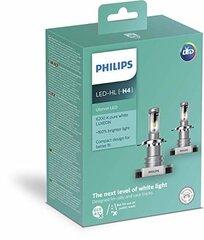 Philips H4 ULTINON LED lemputės +160%, kompl. (2 vnt.)