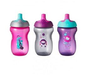 Sportinių buteliukų rinkinys mergaitėms Tommee Tippee 12+ mėn, 3 vnt., 447162 kaina ir informacija | Buteliukai kūdikiams ir jų priedai | pigu.lt